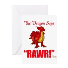 RAWR Greeting Card