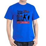 Real Girls Go Fishing Dark T-Shirt