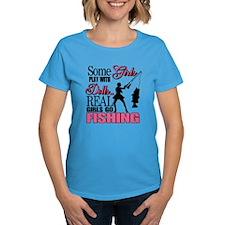 Real Girls Go Fishing Tee