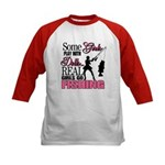 Real Girls Go Fishing Kids Baseball Jersey