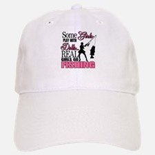 Real Girls Go Fishing Baseball Baseball Cap