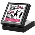 Real Girls Go Fishing Keepsake Box