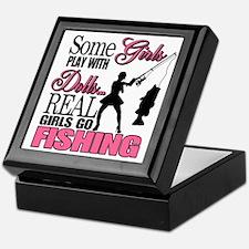 Real Girls Go Fishing Keepsake Box