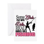 Real Girls Go Fishing Greeting Card