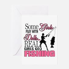 Real Girls Go Fishing Greeting Card