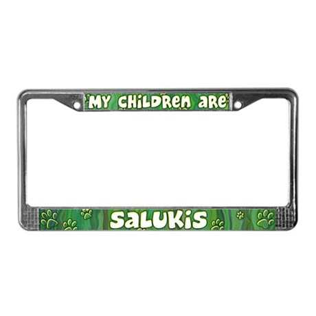My Children Saluki License Plate Frame