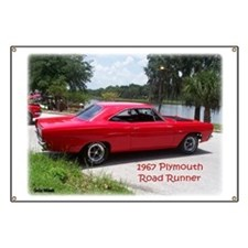 1967 Plymouth Road Runner Banner