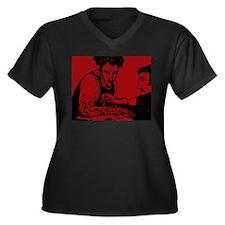 Burned Arm Women's Plus Size V-Neck Dark T-Shirt