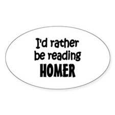 Homer Oval Decal