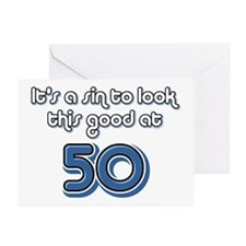 Sinful 50th Birthday Greeting Cards (Pk of 10)