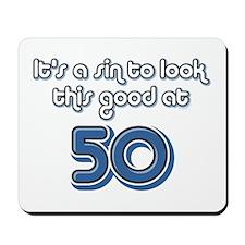 Sinful 50th Birthday Mousepad