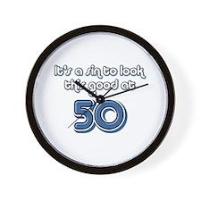 Sinful 50th Birthday Wall Clock
