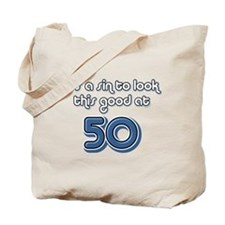 Sinful 50th Birthday Tote Bag