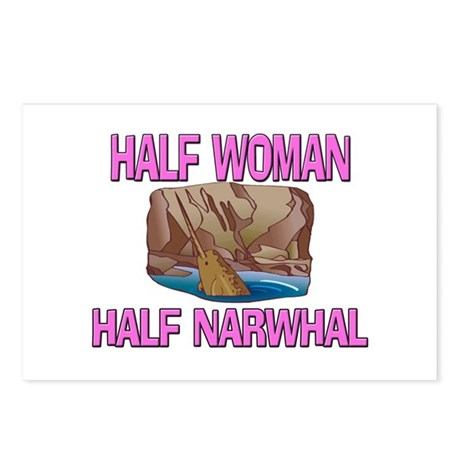 Half Woman Half Narwhal Postcards (Package of 8)