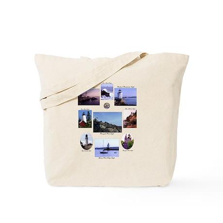 Light Houses of Maine Tote Bag