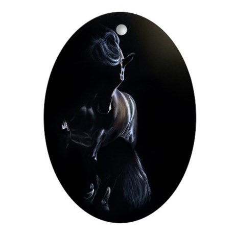 Shadow Play - Friesian Oval Ornament