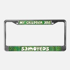 My Children Samoyed License Plate Frame