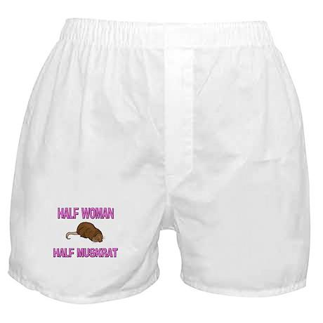 Half Woman Half Muskrat Boxer Shorts