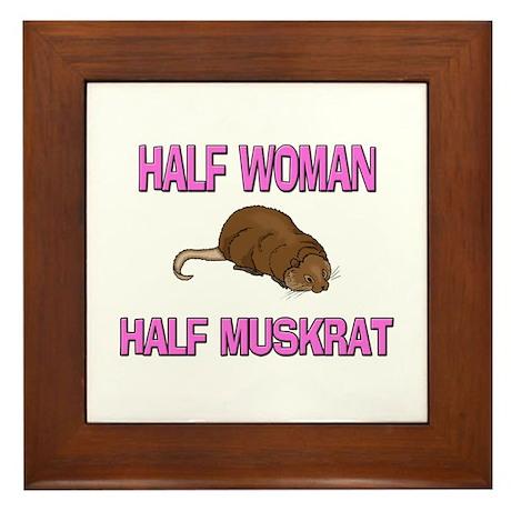 Half Woman Half Muskrat Framed Tile