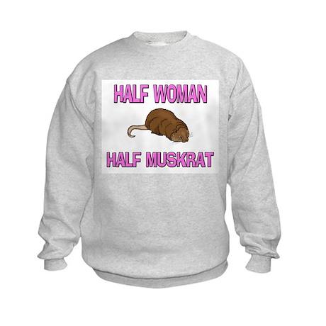 Half Woman Half Muskrat Kids Sweatshirt