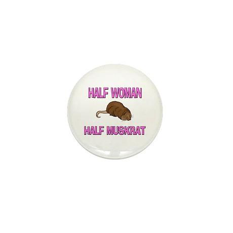 Half Woman Half Muskrat Mini Button