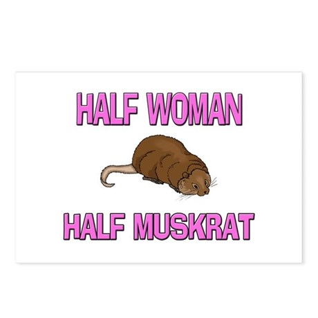 Half Woman Half Muskrat Postcards (Package of 8)