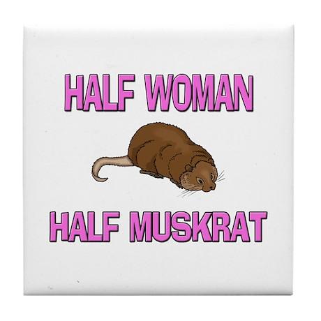 Half Woman Half Muskrat Tile Coaster
