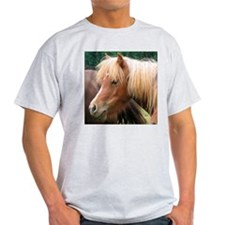 Classic Mini Horse Portrait Ash Grey T-Shirt