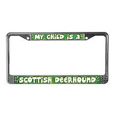 My Kid Scottish Deerhound License Plate Frame