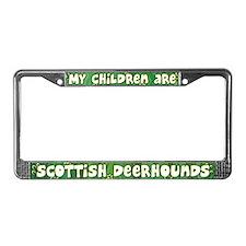 My Children Deerhound License Plate Frame