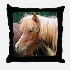 Classic Mini Horse Portrait Throw Pillow