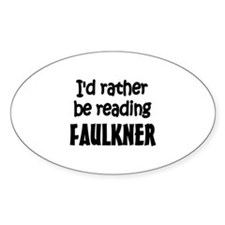 Faulkner Oval Decal