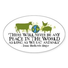 Never Be Peace - Wide Oval Decal