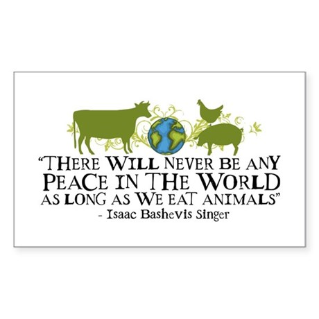Never Be Peace - Wide Rectangle Sticker 10 pk)