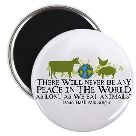 "Never Be Peace - Wide 2.25"" Magnet (10 pack)"