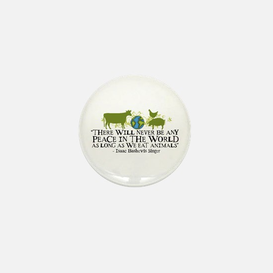 Never Be Peace - Wide Mini Button (10 pack)
