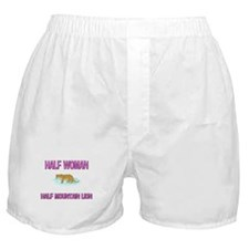 Half Woman Half Mountain Lion Boxer Shorts