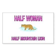 Half Woman Half Mountain Lion Rectangle Decal