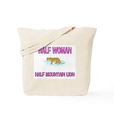 Half Woman Half Mountain Lion Tote Bag