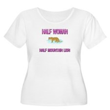 Half Woman Half Mountain Lion T-Shirt