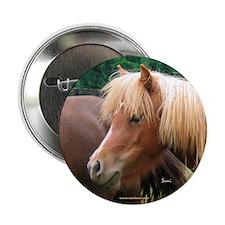 """Classic Mini Horse Portrait 2.25"""" Button (10 pack)"""