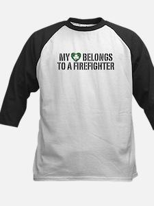 My Heart Belongs to a Firefighter Kids Baseball Je