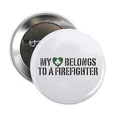 """My Heart Belongs to a Firefighter 2.25"""" Button"""
