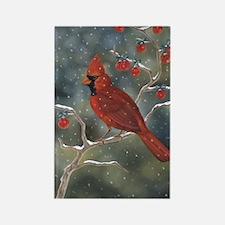 Cardinal Christmas Rectangle Magnet