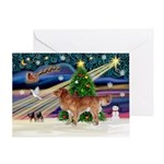 XmasStar/Nova Scotia dog Greeting Card