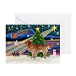 XmasStar/Nova Scotia dog Greeting Cards (Pk of 10)