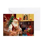 Santa/Nova Scotia Dog Greeting Cards (Pk of 10)
