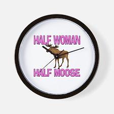 Half Woman Half Moose Wall Clock