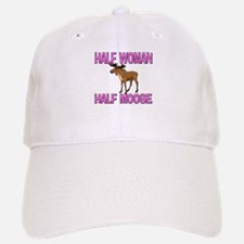 Half Woman Half Moose Baseball Baseball Cap