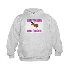 Half Woman Half Moose Hoodie
